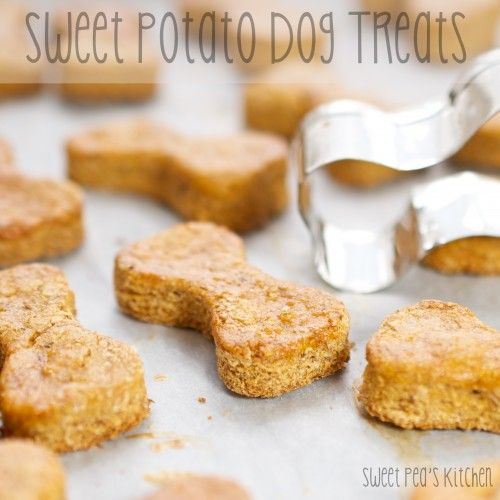 Sweet Potato Dog Treats.   1 medium sweet potato,  1 3/4 cups whole wheat flour,  1 tablespoon flaxseed meal,  1 large egg.