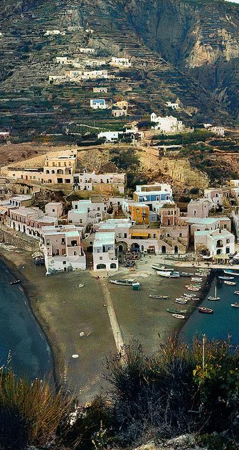 The island of Ischia in the Gulf of Naples, Italy ...