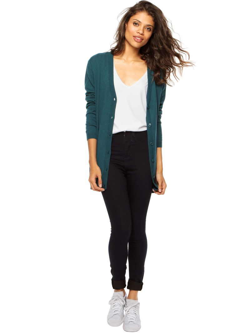Cardigan Canal Maxi Verde - Marca Canal
