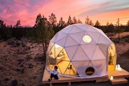 Геодезический купол для отдыха на природе - прекрасная альтернатива палаткам