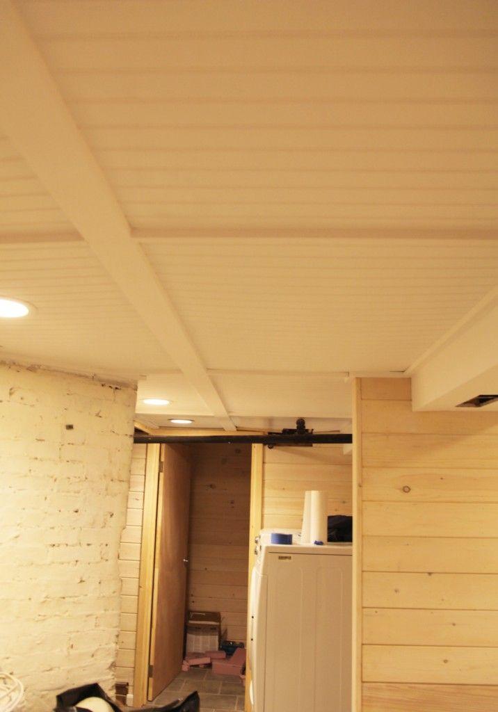 bead board basement ceiling