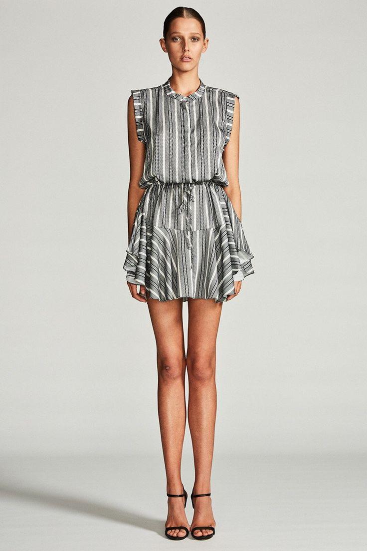 Shona Joy - Phoenix Drawstring Mini Shirt Dress