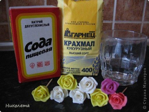 Самый простой рецепт холодного фарфора. БЕЗ КЛЕЯ!!!    Простой рецепт холодного фарфора от автораНиколета   нам понадобятся: 1/4 часть чашки пищевой соды  1/4 часть чашки кукурузного крахмала (можно …
