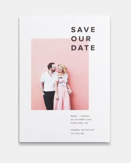 The difference between a basic save-the-date and one that stands out as unique and well thought out can sometimes boil down to font choices and minimalistic design. Visually, some things are best simplified. Artifact Uprising gets that mindset and offers various layout options with perfectly elegant fonts.