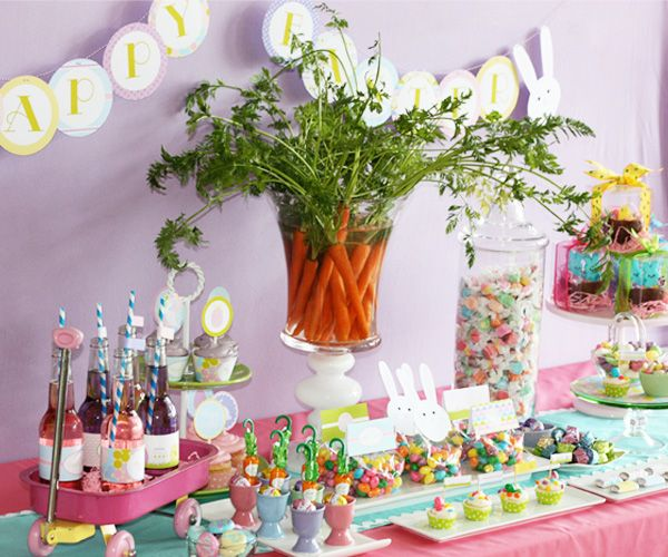 Bright & colourful easter egg party