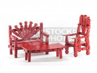 Мебель для кукол из прищепок