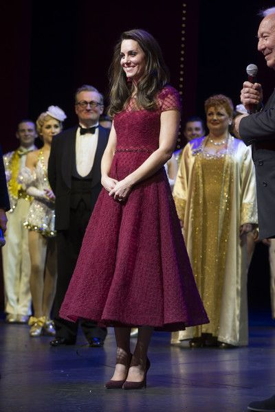 "Kate Middleton Photos Photos - Catherine, Duchess of Cambridge takes part in a presentation during the Opening Night Royal Gala performance of ""42nd Street"" in aid of the East Anglia Children's Hospice at the Theatre Royal Drury Lane on April 4, 2017 in London, England. - The Duchess Of Cambridge Attends The Opening Night Of ""42nd Street"" In Aid Of The East Anglia Children's Hospice"