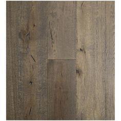 "Easoon USA 7-1/2"" Engineered White Oak Hardwood Flooring in Grey Glazed"