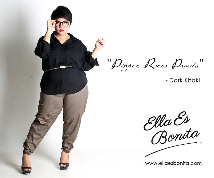 Pipper Rocco Pants - This pants features high quality stretch cotton which specially designed for sophisticated curvy women originally made by Indonesian Designer & Local Brand: Ella Es Bonita. Available at www.ellaesbonita.com