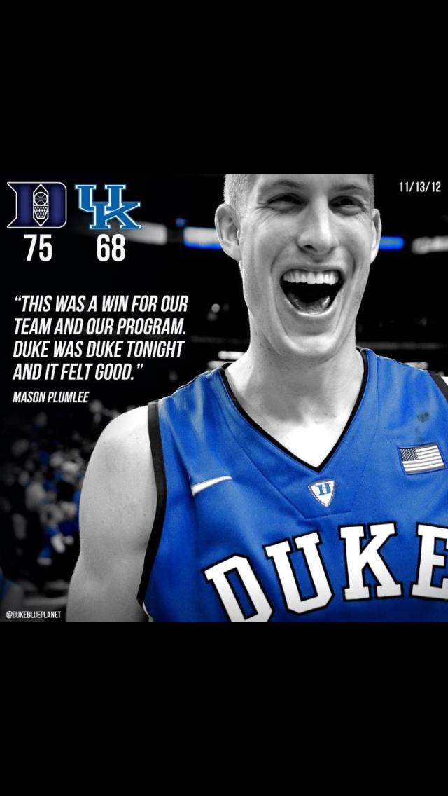 Duke Basketball ...Love that score ...Hell yeah!!