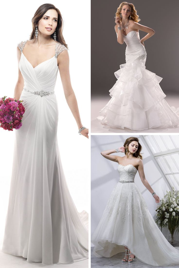Were you thinking of having a second dress for your wedding?  #maggiesotter #dominiquebridal #weddingdress