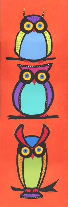 Owls Colorfulgirl.com