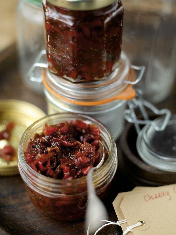 paprikové chilli chutney podle Jamieho Olivera