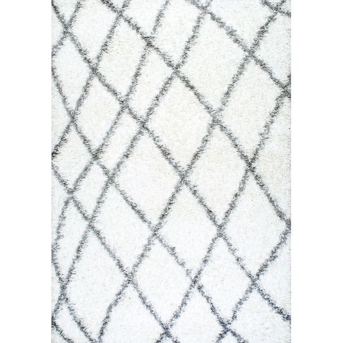 nuLOOM Selina White Shag Area Rug | AllModern