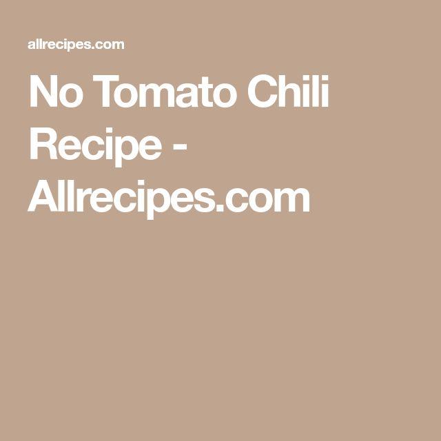 No Tomato Chili Recipe - Allrecipes.com