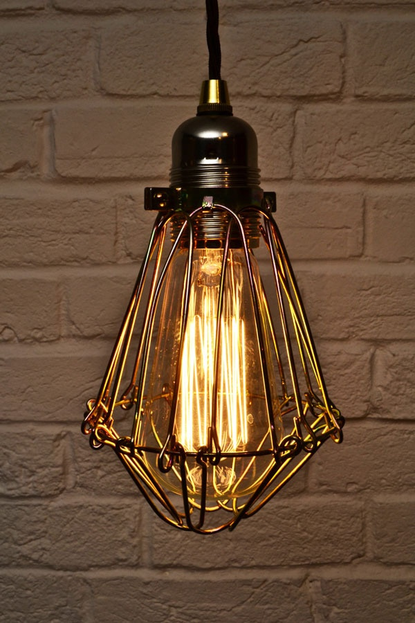 Edison Industrial Cage Pendant Light By Artifact Lighting