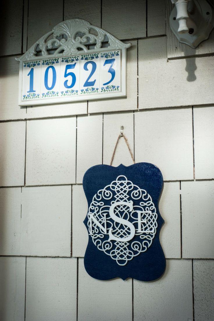 Front Door Monogram Decor Craft Tutorial | Dwell Beautiful