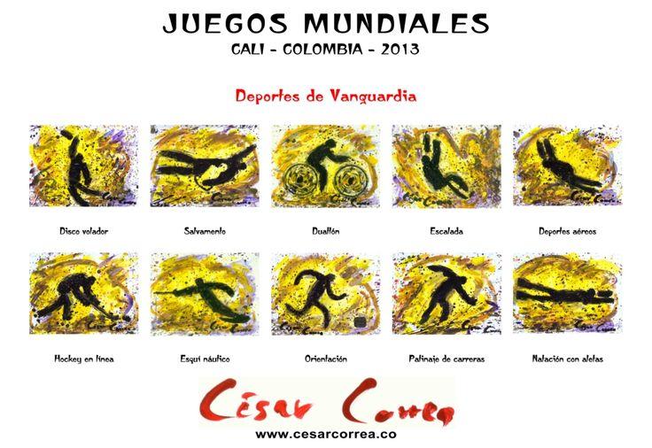 AFICHE JUEGOS  MUNDIALES CALI 2013 DEPORTES DE VANGUARDIA