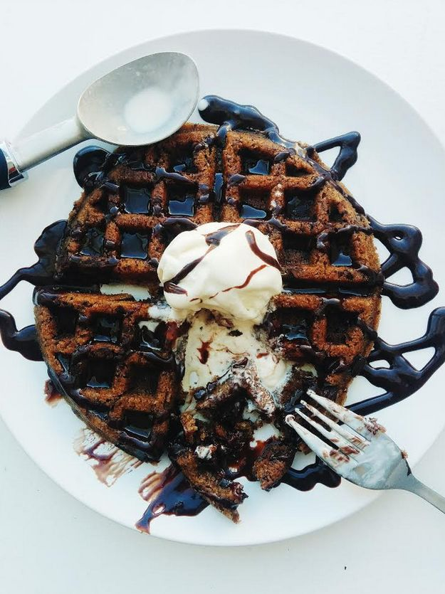 Cookie Waffles! dessert or breakfast??