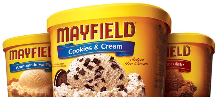 Absolutely love Mayfield ice cream.  Chocolate and Butter Pecan is my favorite.