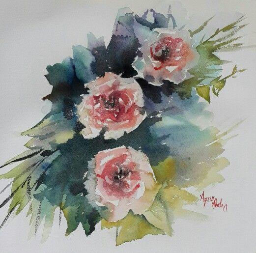 Watercolor by Aynur Akalin.Turkey