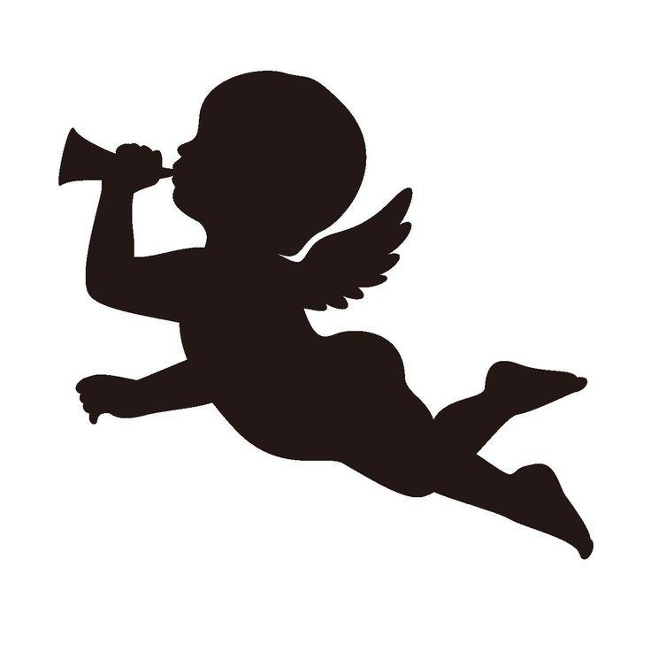 25 unique angel silhouette ideas on pinterest nativity