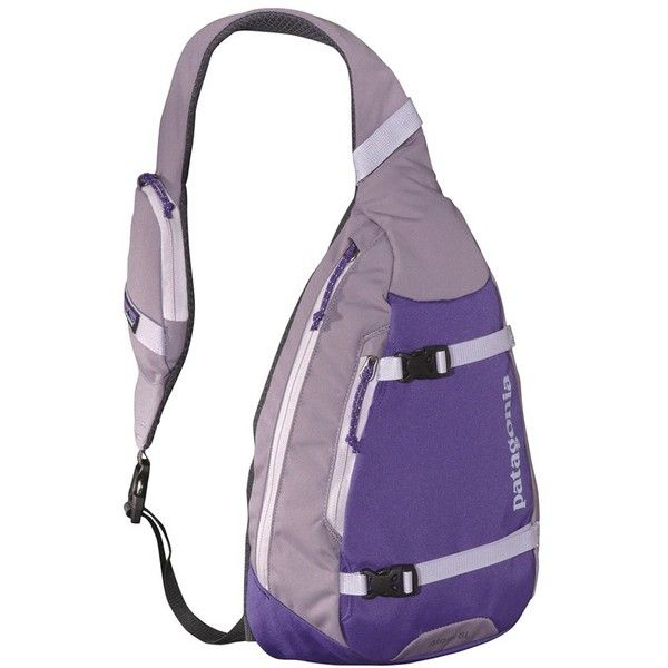Women's Patagonia 'Atom' Sling Backpack ($44) ❤ liked on Polyvore featuring bags, backpacks, concord purple, patagonia backpack, purple bag, sling bag, sling backpack and woven backpack