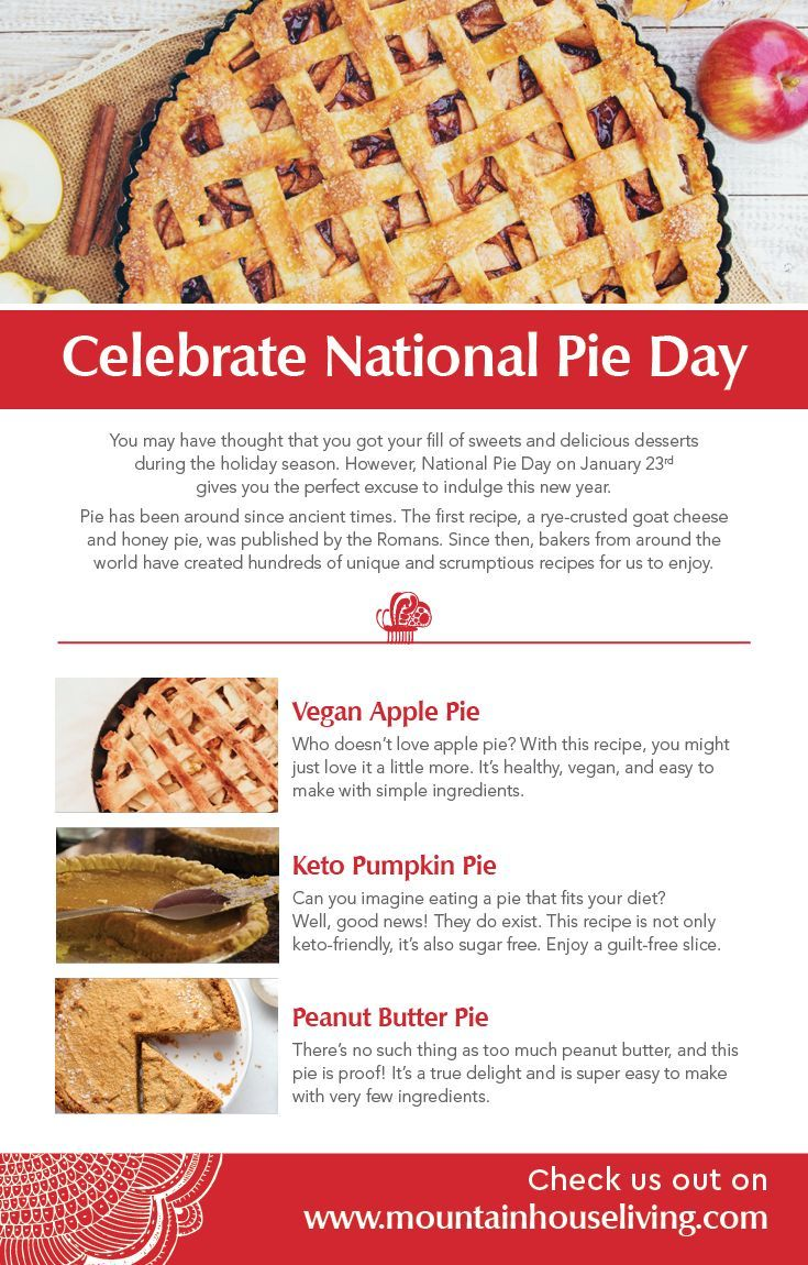 Celebrate National Pie Day In 2020 Recipes Delish Recipes Pie Day