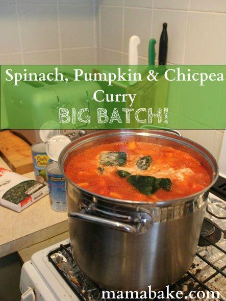 Big Batch Spinach & Chick Pea curry BIG BATCH