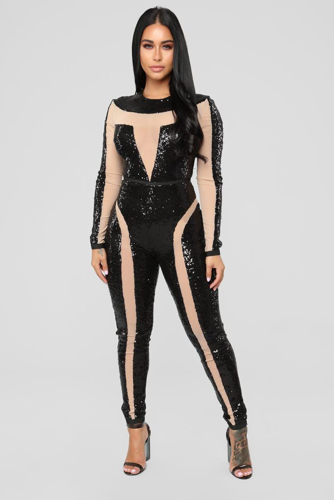 b4dc502d2d6ae9 Mayra Jumpsuit - Black in 2019 | Fashion Nova | Jumpsuits | Black ...