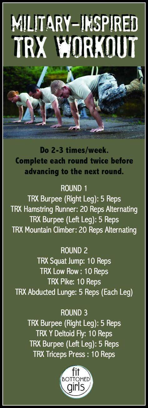 We hebben een door het leger geïnspireerde TRX-workout die vandaag perfect is.