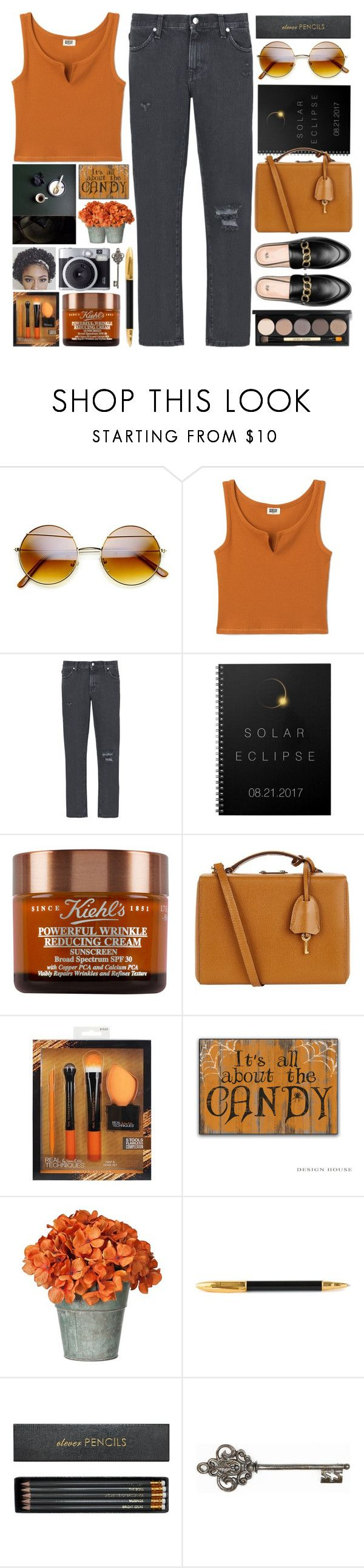 """""""End of Summer"""" by grozdana-v ❤ liked on Polyvore featuring 8, Mark Cross, Sugar Paper, Sloane Stationery, Graham & Brown and Bobbi Brown Cosmetics"""