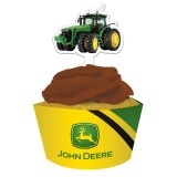 John Deere Party Supplies: Cupcake Wrapper & Pick 12 Pk. - Open A Party - Party Supplies Canada
