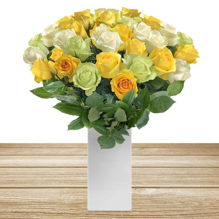 Wholesale Flowers For Weddings Events: Roses Trio Yellow