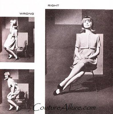Couture Allure Vintage Fashion: How to Sit Like a Lady - 1968