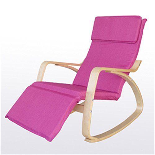 Holzstuhl Schaukelstuhl Chaiselongue Nordic Freizeit Stuhl Lounge Stuhl  Schaukelstuhl Balkon Massivholz Einzigen Stoff Innenstuhl / Wasserdicht