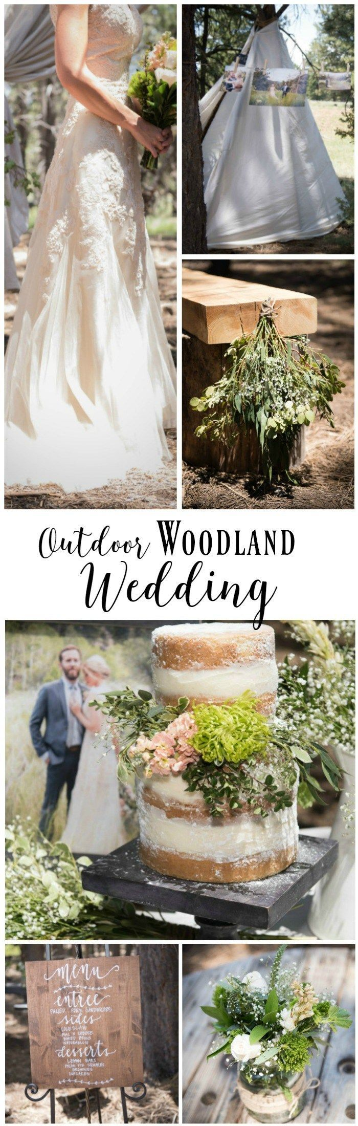 This outdoor woodland themed wedding is incredible.  So many amazing touches and the attention to detail is spot on.  Perfect colors, Perfect style.