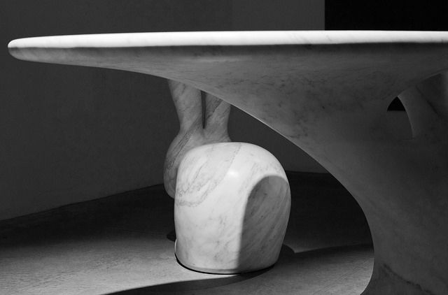 """Rabbit Tree"" by Stefano Giovannoni. 'Solid Senses', where marble meets art and technology"