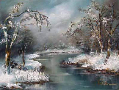 Winter Snow. 9x12  0riginal oil painting on canvas snow