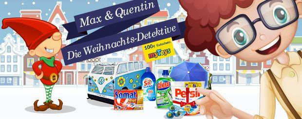 Begleiten Sie Max & Quentin auf ihren Abenteuern als Weihnachts-Detektive und sichern Sie sich bis zum 24. Dezember täglich die Chance auf fantastische Preise, darunter 4x1 myToys Gutschein im Wert von je 100 Euro zum Kinostart der Familienkomödie ANNIE.