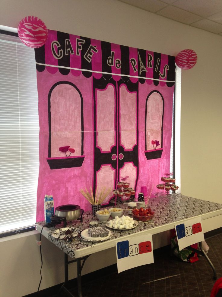 Backdrop For Our Holiday Around The World Party A French