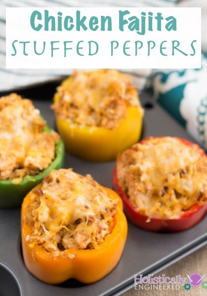 Chicken Fajita Stuffed Peppers - Living Low Carb One Day At A Time