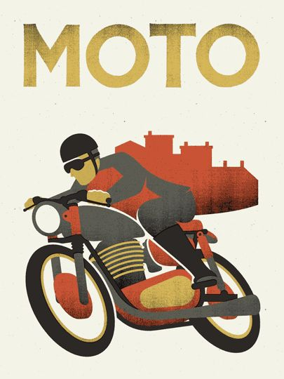MOTO $30.00 CAD 4 colour screenprint on French Speckletone Madero Beach 100lb. Edition of 100