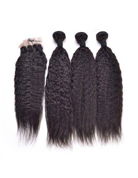 3 Tissages Péruviens 1 top closure cheveux Afro