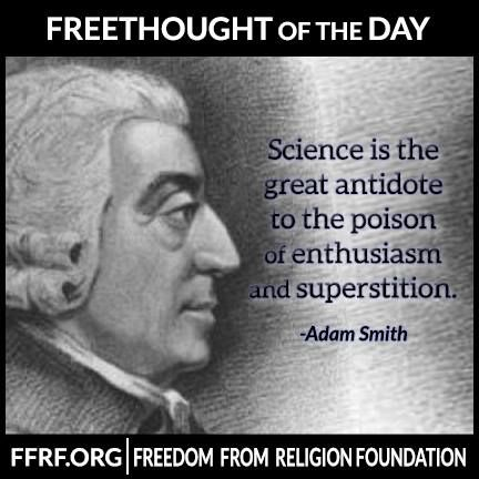 #Science is the great antidote to the poison of enthusiasm ...