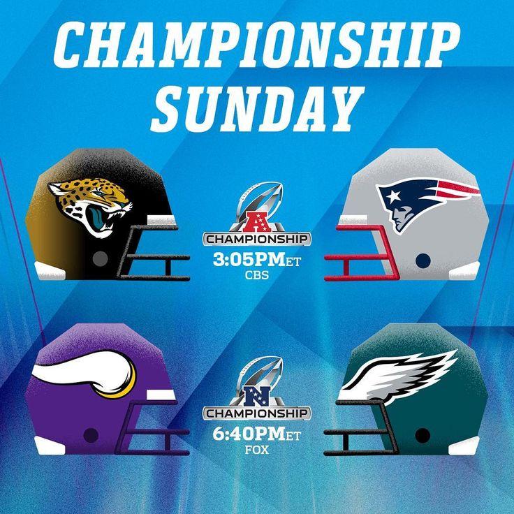 "190.6k Likes, 2,755 Comments - NFL (@nfl) on Instagram: ""Championship Sunday Schedule! #NFLPlayoffs"""