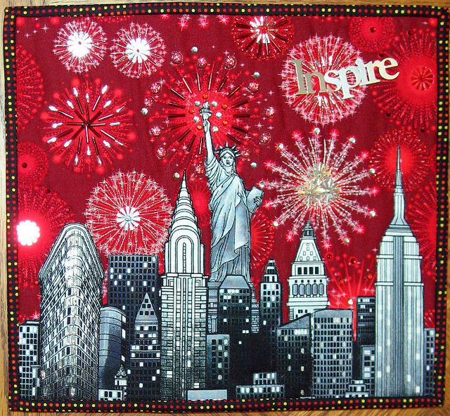 160 best Quilt: CityScapes images on Pinterest | Painting, Stars ... : quilts nyc - Adamdwight.com