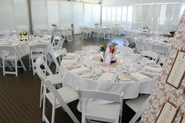 Mercure Townsville - Plantation Deck - Wedding Reception - White - Rustic - Florals - Perfectly Styled