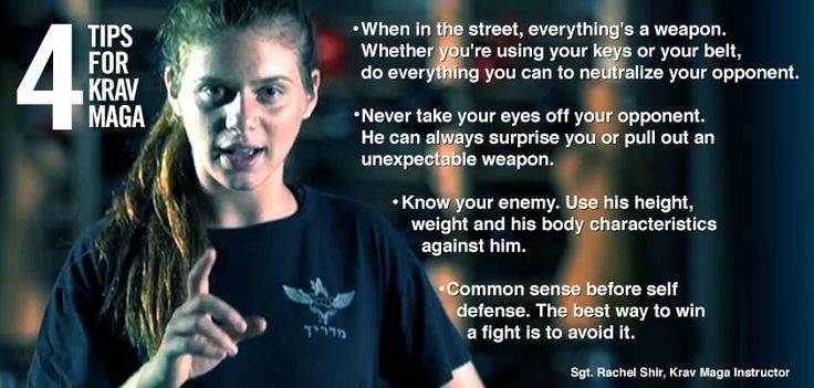 4 tips for Krav Maga from an IDF instructor.