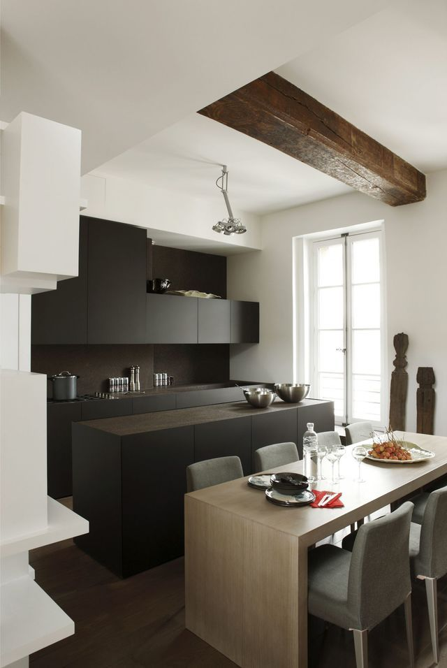 Aménagement de cuisine conçu par Minotti Cucine.